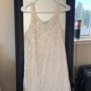 Shell-crochet dress